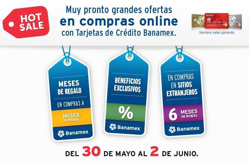 Promociones Hot Sale 2016 Banamex: 6 meses sin intereses en tiendas online del extranjero