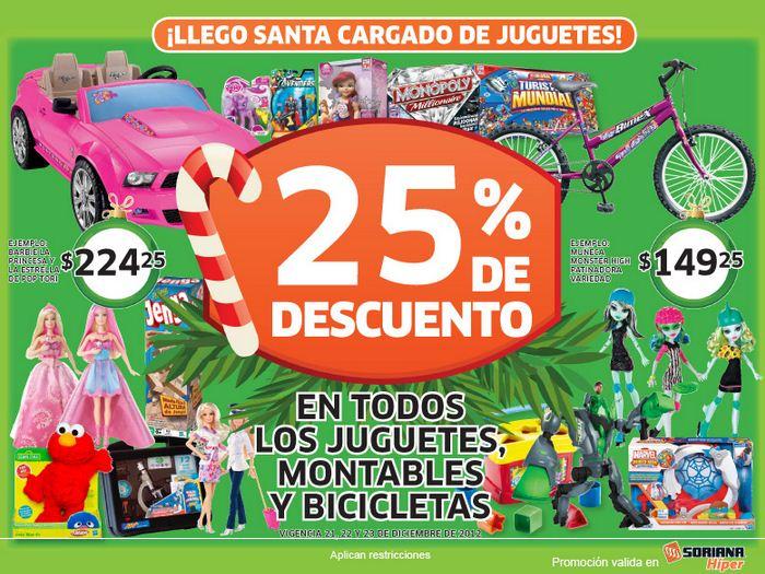Soriana Híper: 25% de descuento en todos los juguetes, bicicletas y montables