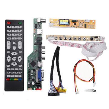Banggood: Placa y Control para Monitores LCD