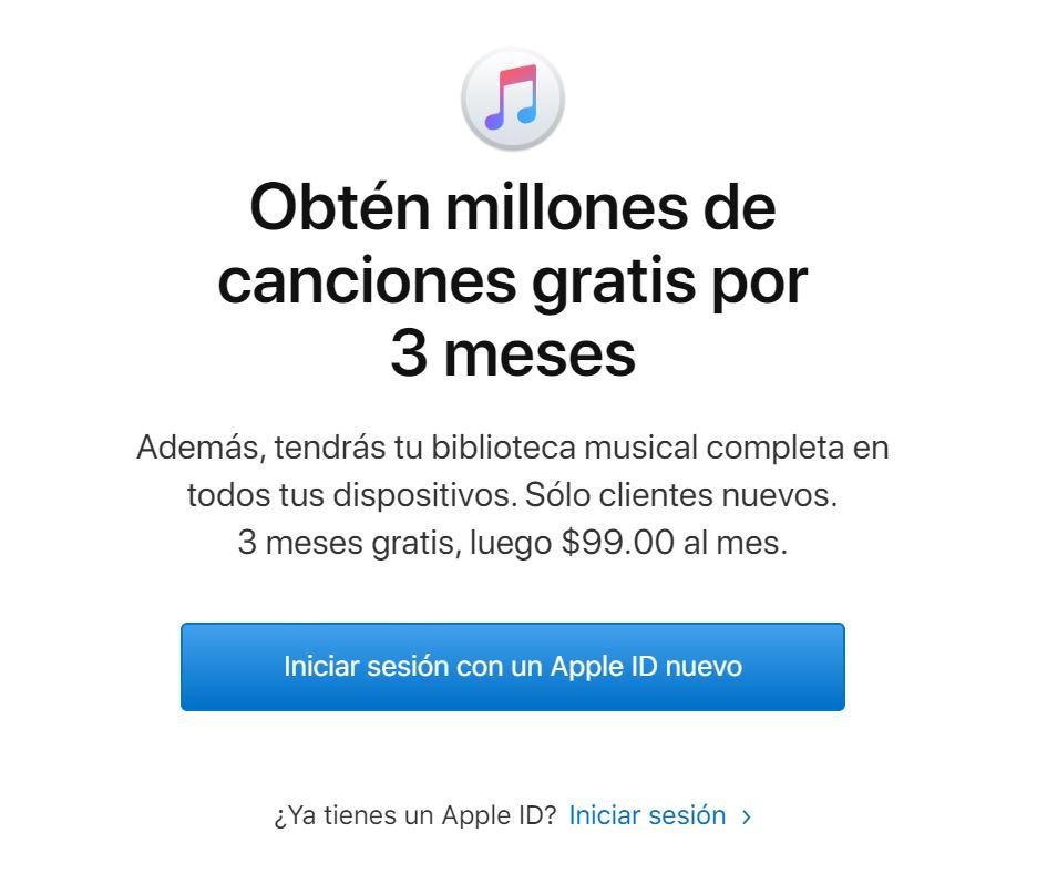 Apple Music: 3 Meses Gratis (Nuevos Usuarios)