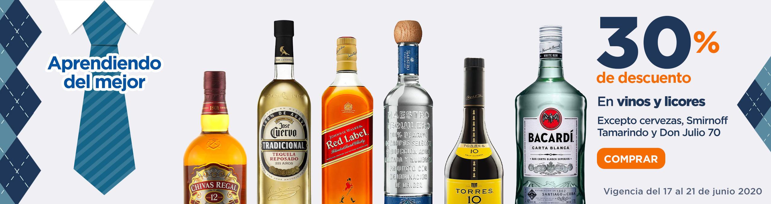 CHEDRAUI 30 % descuento en vinos y licores 17 al 21 junio (mejores precios que soriana y el 3 x 2 )