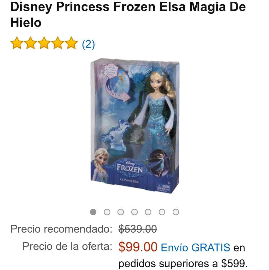 Amazon México: muñeca Elsa frozen a $99