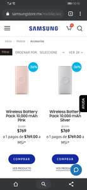 Samsung: Wireless Battery Pack 10,000 mAh
