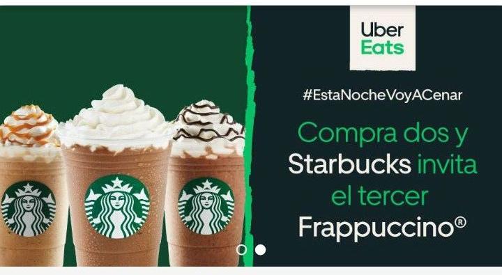 Uber eats: 3x2 Starbucks