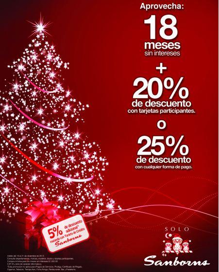 Venta Especial Sanborns: 25% de descuento o 20% y 18 MSI