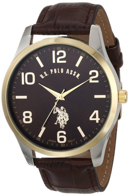 Amazon: U.S. Polo Classic USC50225 Reloj de hombre con banda de cuero