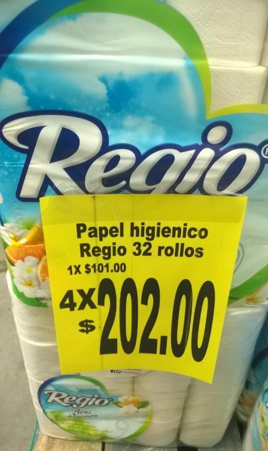 Soriana Super: Papel Higienico Regio Aires De Frescura 4x32 rollos en $202