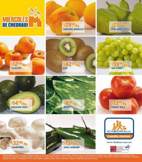 Miércoles de frutas y verduras Chedraui diciembre 19: romeritos $5.90, lechuga $1.80 y más