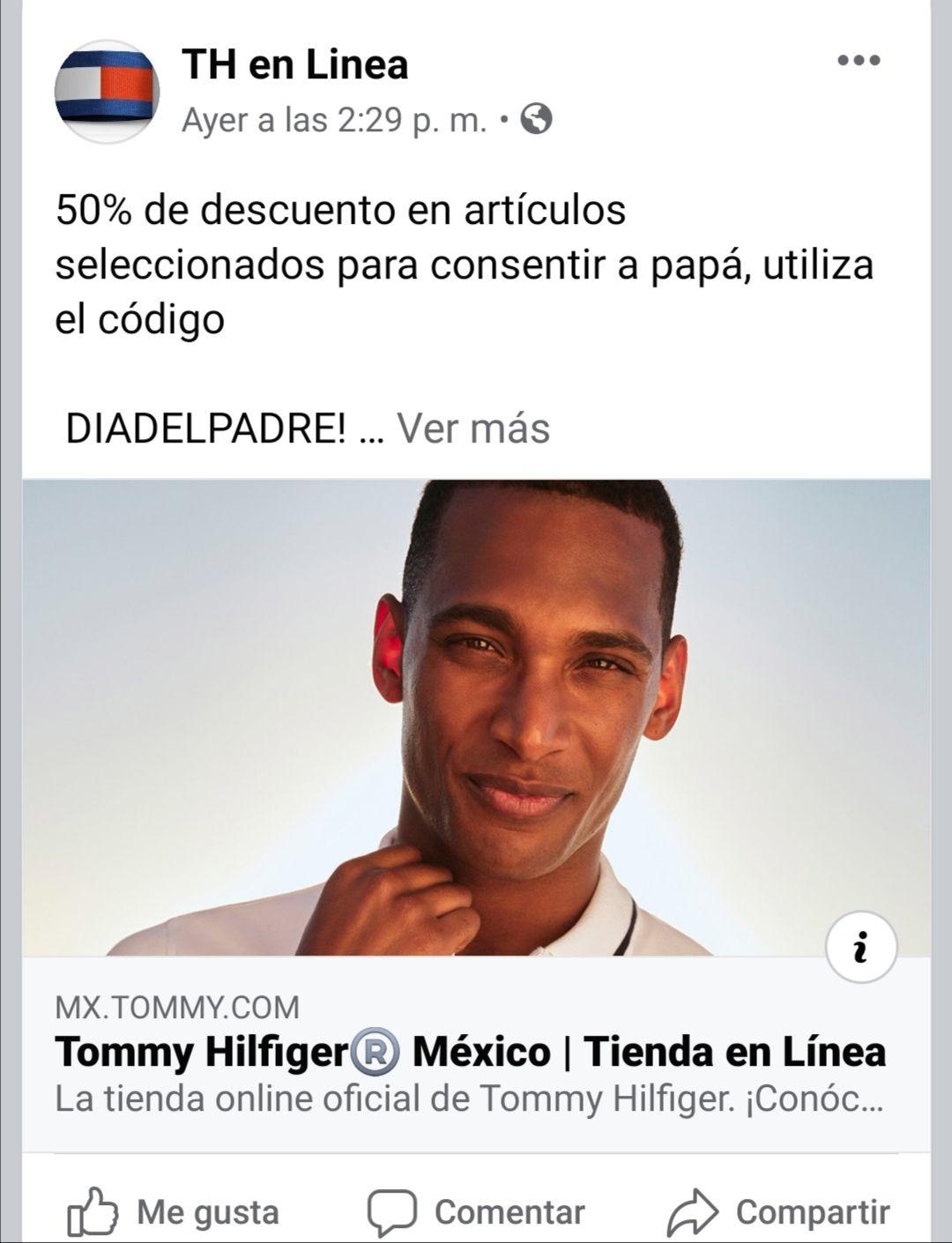 Tommy Hilfiger: 50% de descuento en artículos para papá