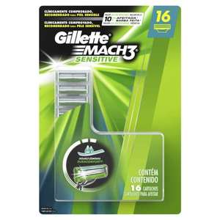 Sam's Club en línea: Cartuchos para Máquina de Afeitar Gillette Mach3 Sensitive 16 pzas