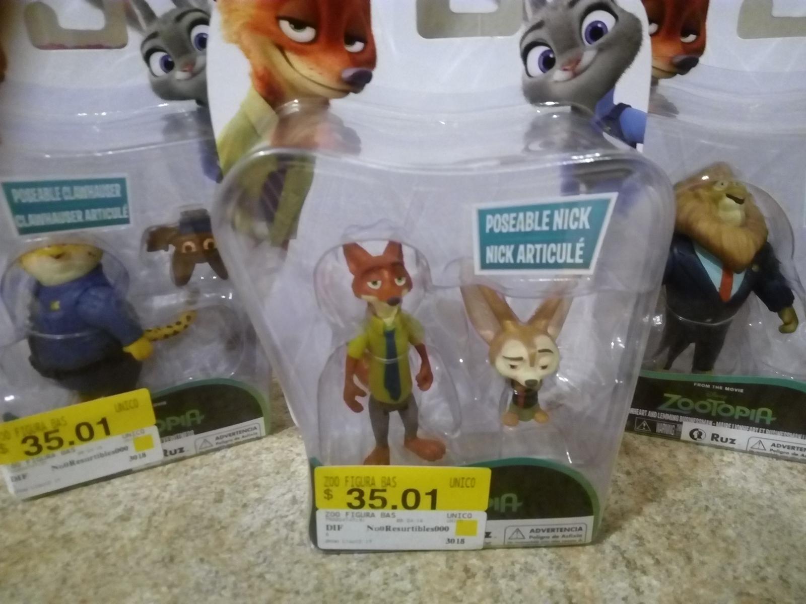 Walmart: figuras Zootopia a $35.01