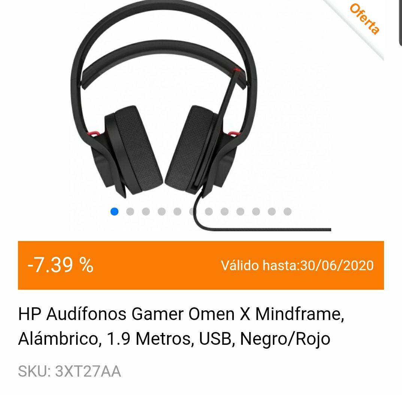 Cyberpuerta: hp omen mindframe gaming headset