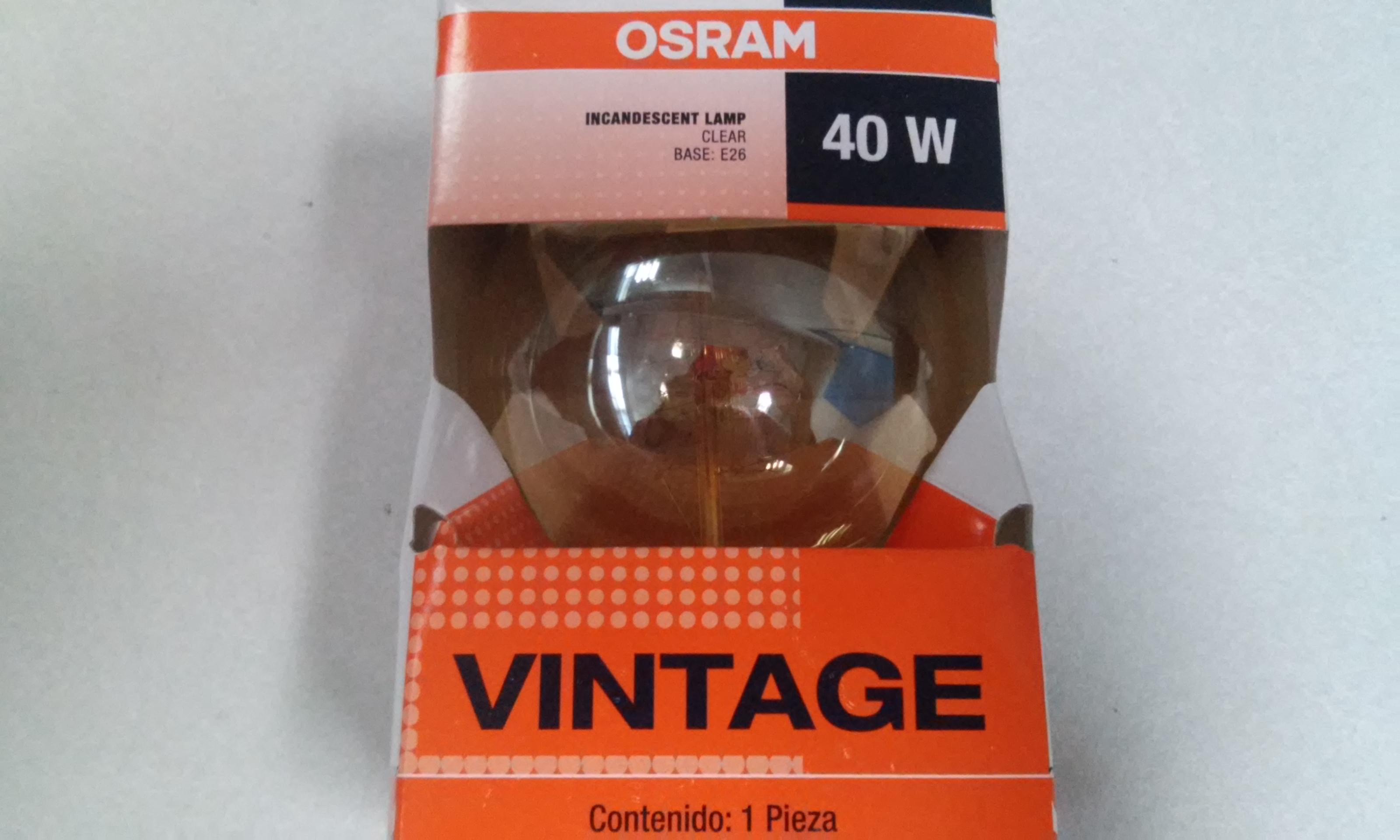 Walmart Cuitláhuac: Osram 40w Vintage a $28.03 y más