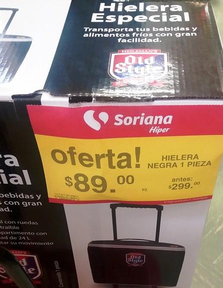 Soriana Hyper: Hielera o Silla Plegadiza a 89 pesos (SIN PUNTOS)
