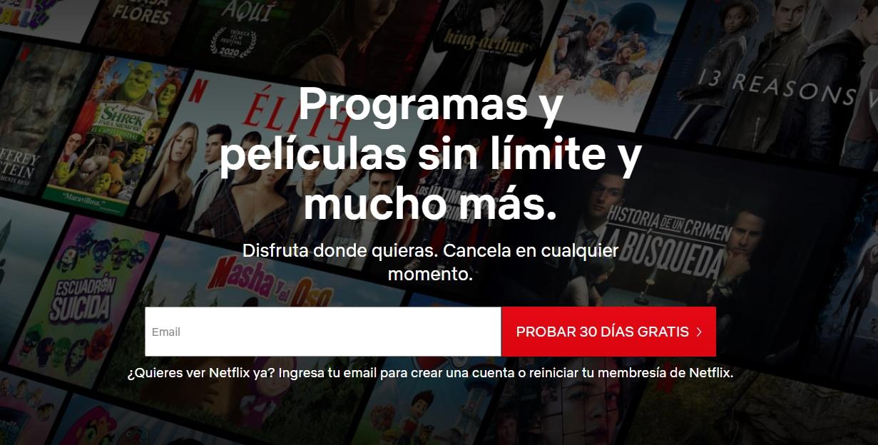 Netflix Prueba Gratis 30 Dias Mexico (Usuarios Nuevos)