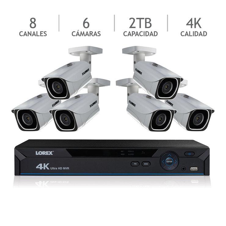 Costco: Lorex sistema de seguridad 8 canales UHD 4K NVR con 6 cámaras 4K IP