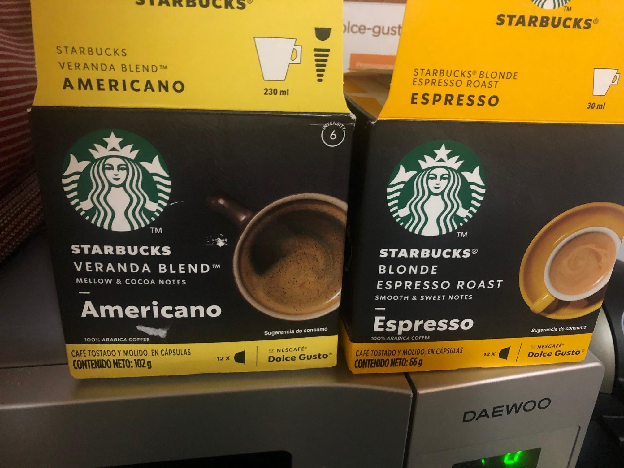 Walmart Nescafé Dolce Gusto Caja starbucks