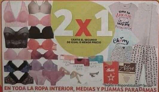 Julio Regalado 2020 en Soriana : 2X1 en Ropa Interior, Medias y Pijamas para Dama