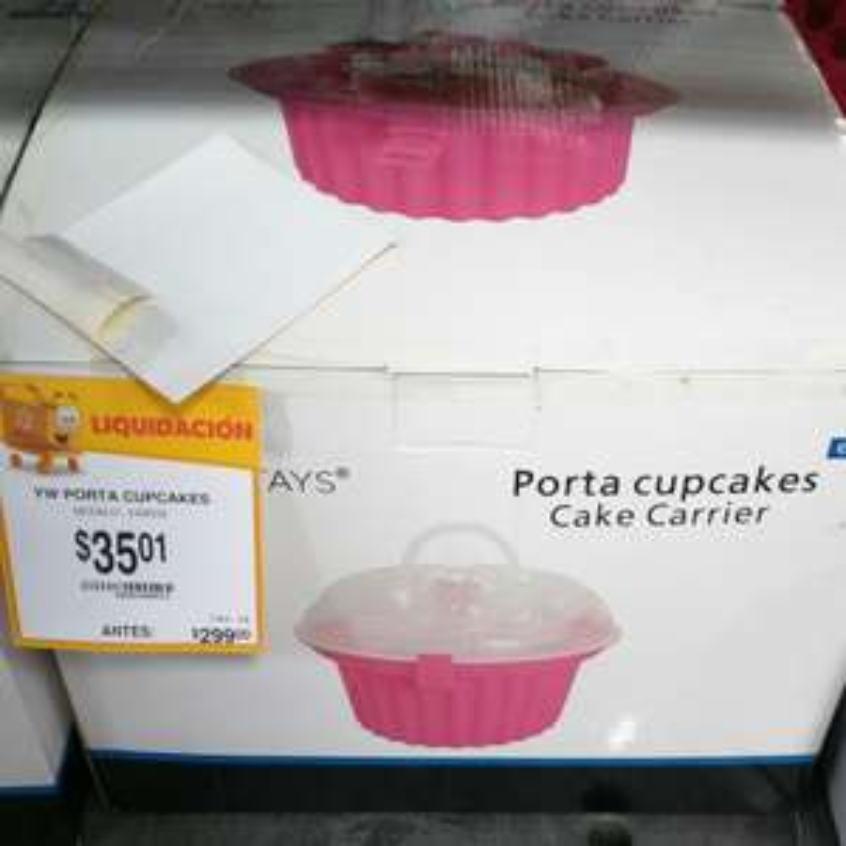 Walmart, León. Liquidación porta 24 cupcakes
