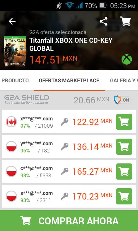 G2A: Titanfall para Xbox One a $123