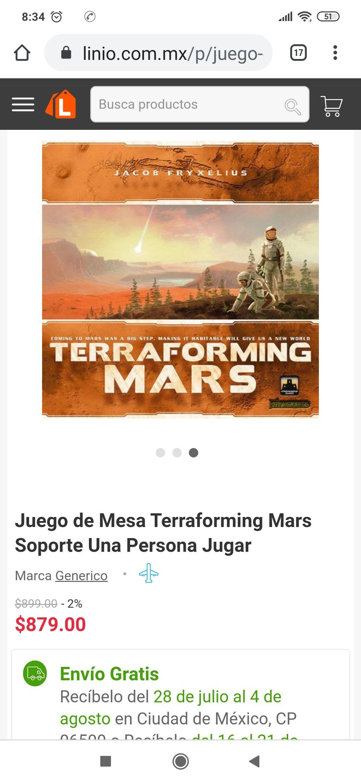 Linio Juegazo eurogame terraforming mars