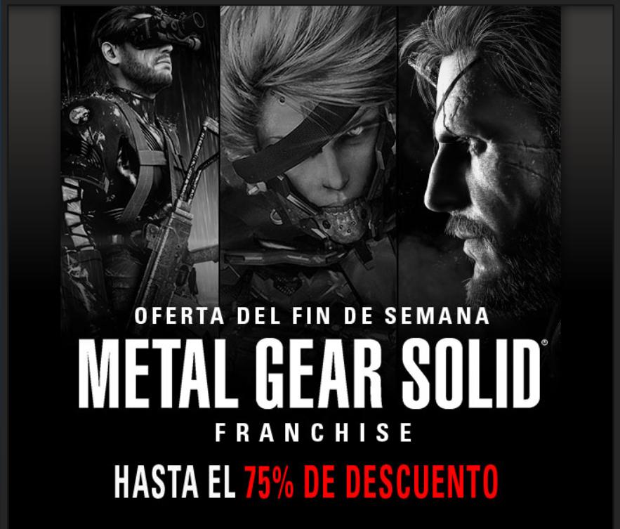 Steam, hasta 75% de descuento en la saga Metal Gear Solid