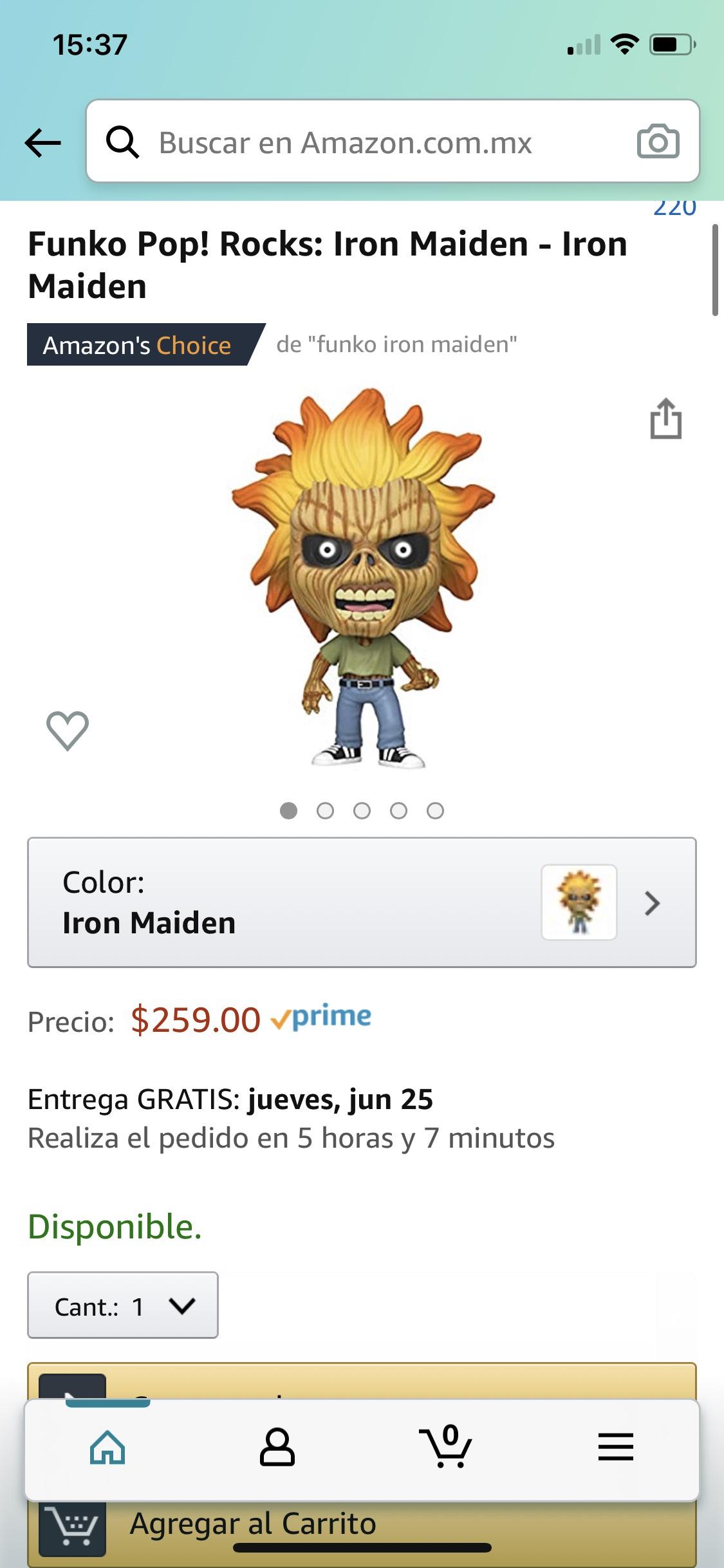 Amazon Prime: Funko Pop Iron Maiden $259