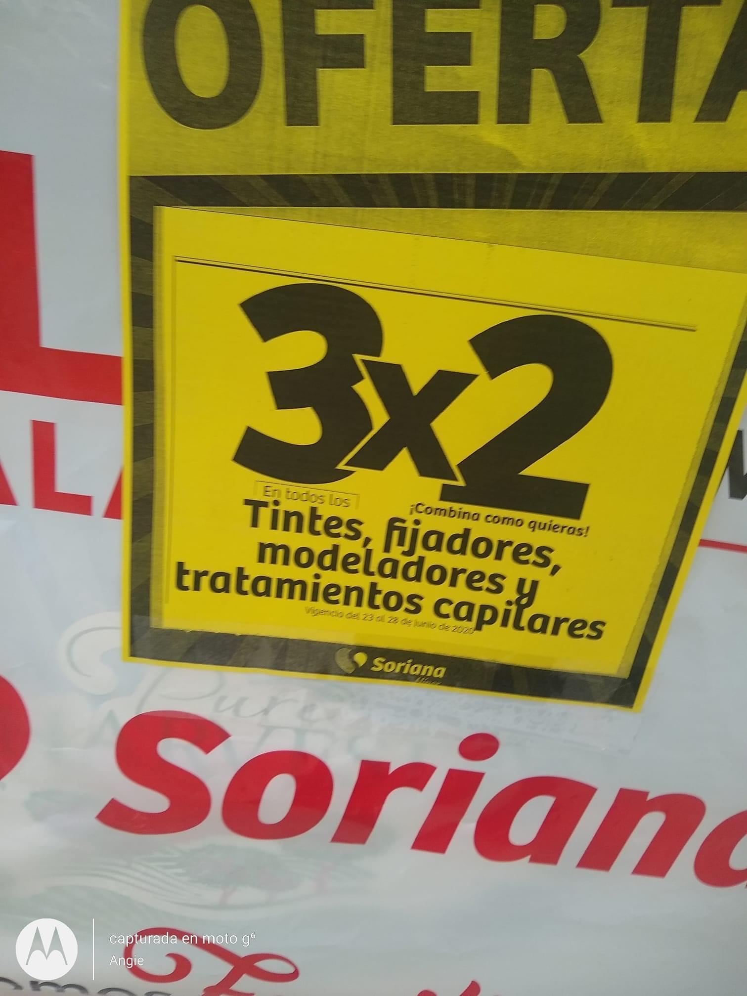 Julio Regalado 2020 en Soriana. 3x2 en TODOS los Tintes, Fijadores, Modeladores y Tratamientos Capilares