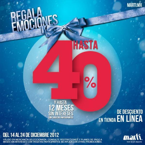 Martí: hasta 40% de descuento y hasta 12 meses sin intereses