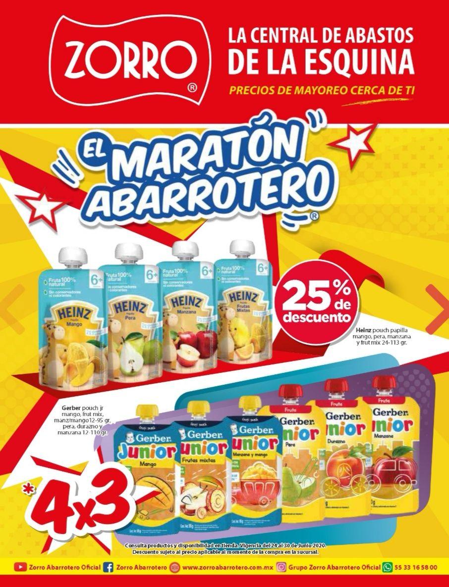 """Zorro: 3° Folleto de Ofertas Semanal """"El Maratón Abarrotero"""" vigente del Miércoles 24 al Martes 30 de Junio"""
