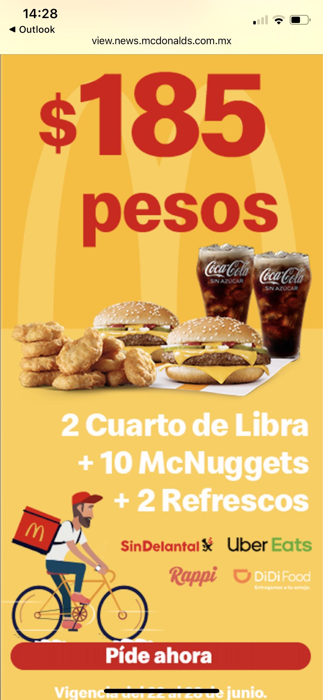 McDonald's: McDonald's y Coca Cola McDelivery Week