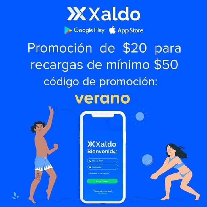 Xaldo: Descuento de $20, recarga minima $50