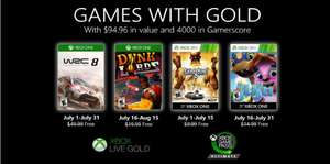 Xbox: Games With Gold Julio