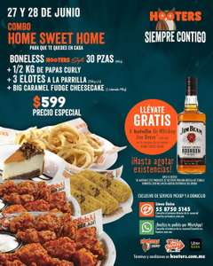 Home sweet home Hooters botella gratis de whisky