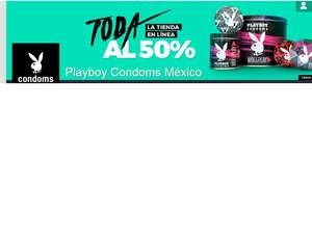 Condones Playboy al 50%