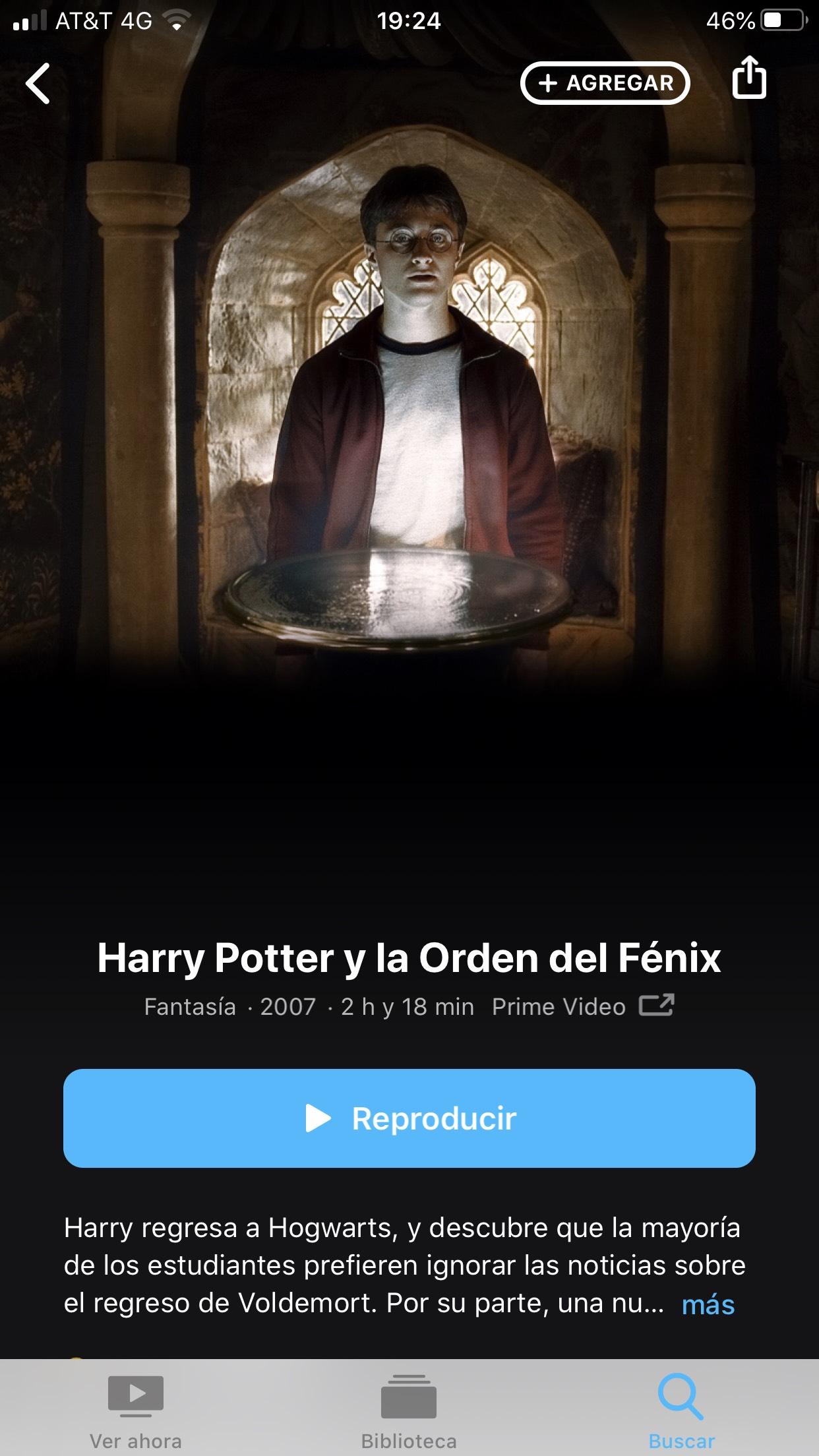 Apple Tv: HARRY POTTER Y LA ORDEN DEL FÉNIX A PRECIO ESPECIAL