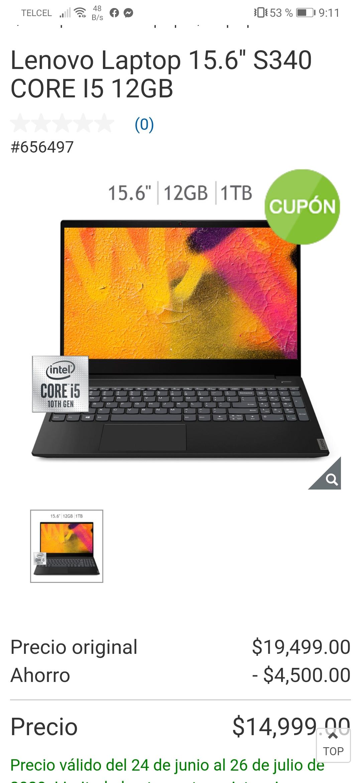 Costo online Lenovo Laptop 15.6