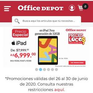 Office Depot Ipad 7ma generación