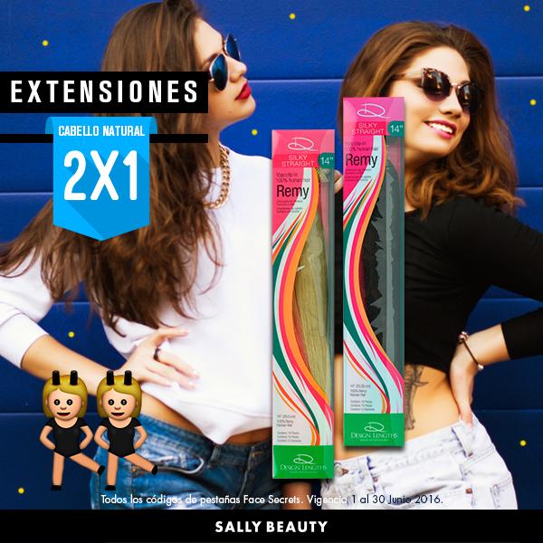 Sally Beauty: 2x1 todas las extensiones de Cabello natural 100% Calidad Remy: Design Lenghts