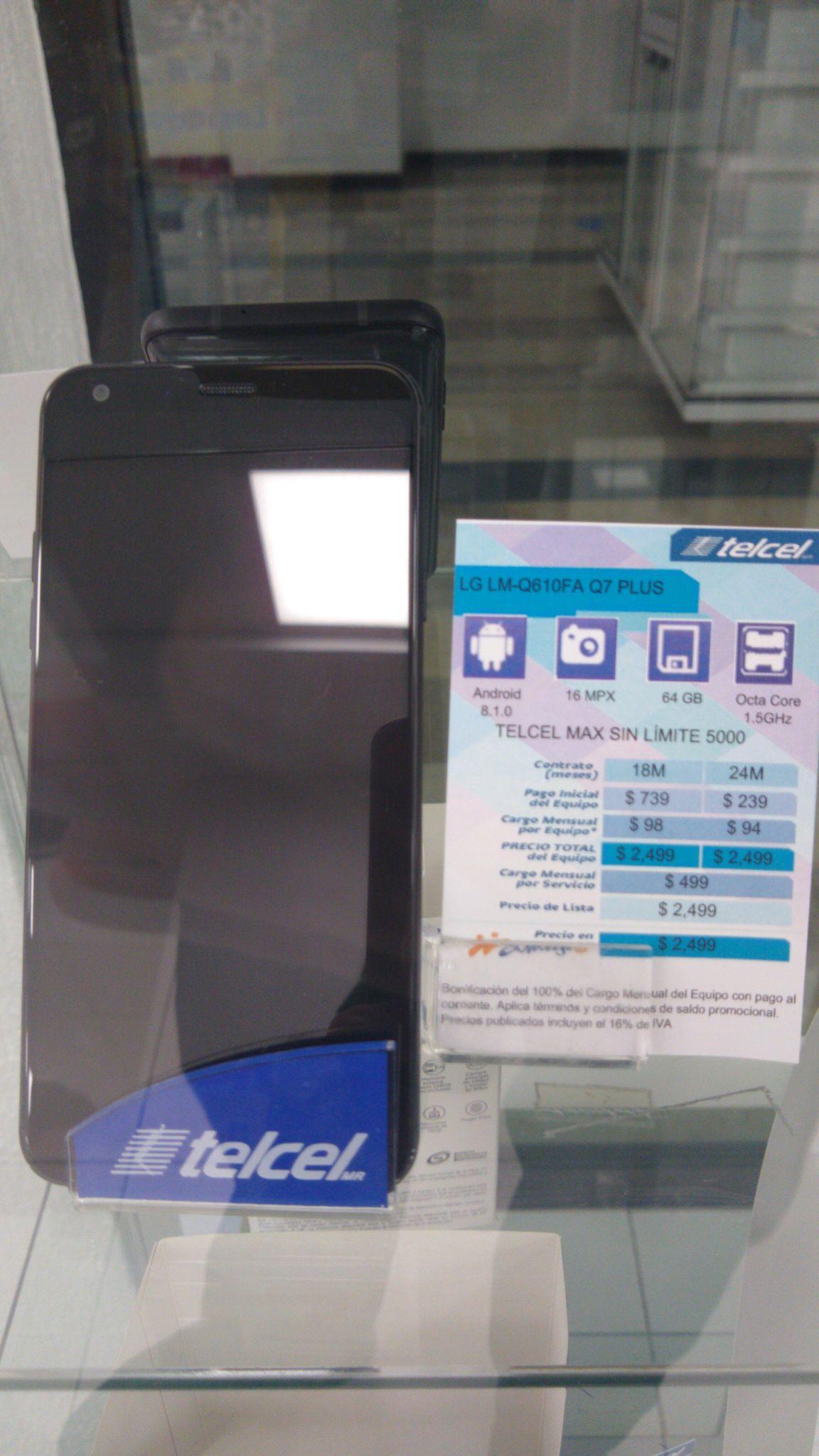 Telcel: LG Q7 Plus
