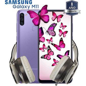 Linio Celular Samsung Galaxy M11 32GB 3GB + diadema Nuevo 1 año de garantía