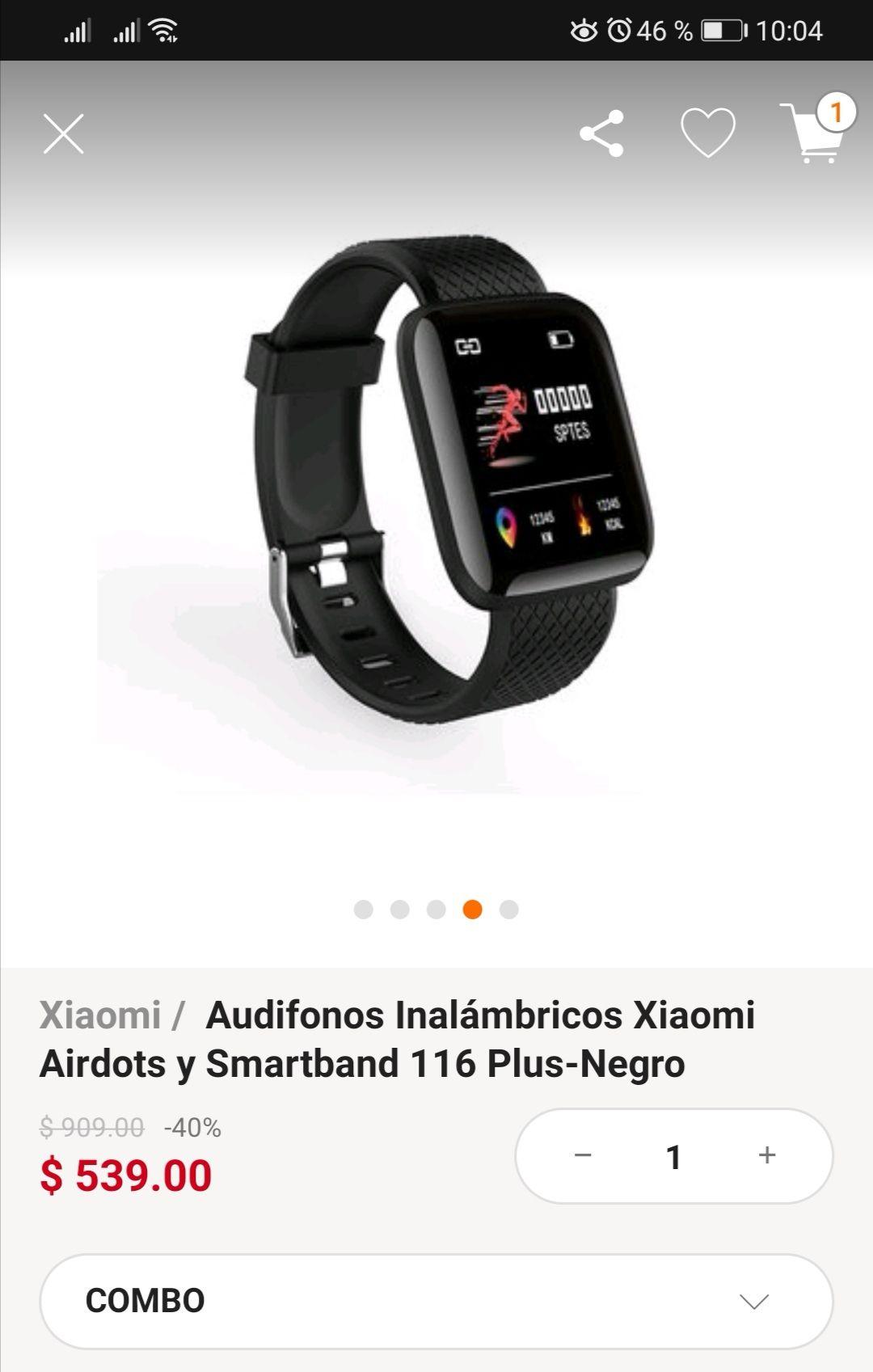 Linio: Audifomos xiaomi + smartband