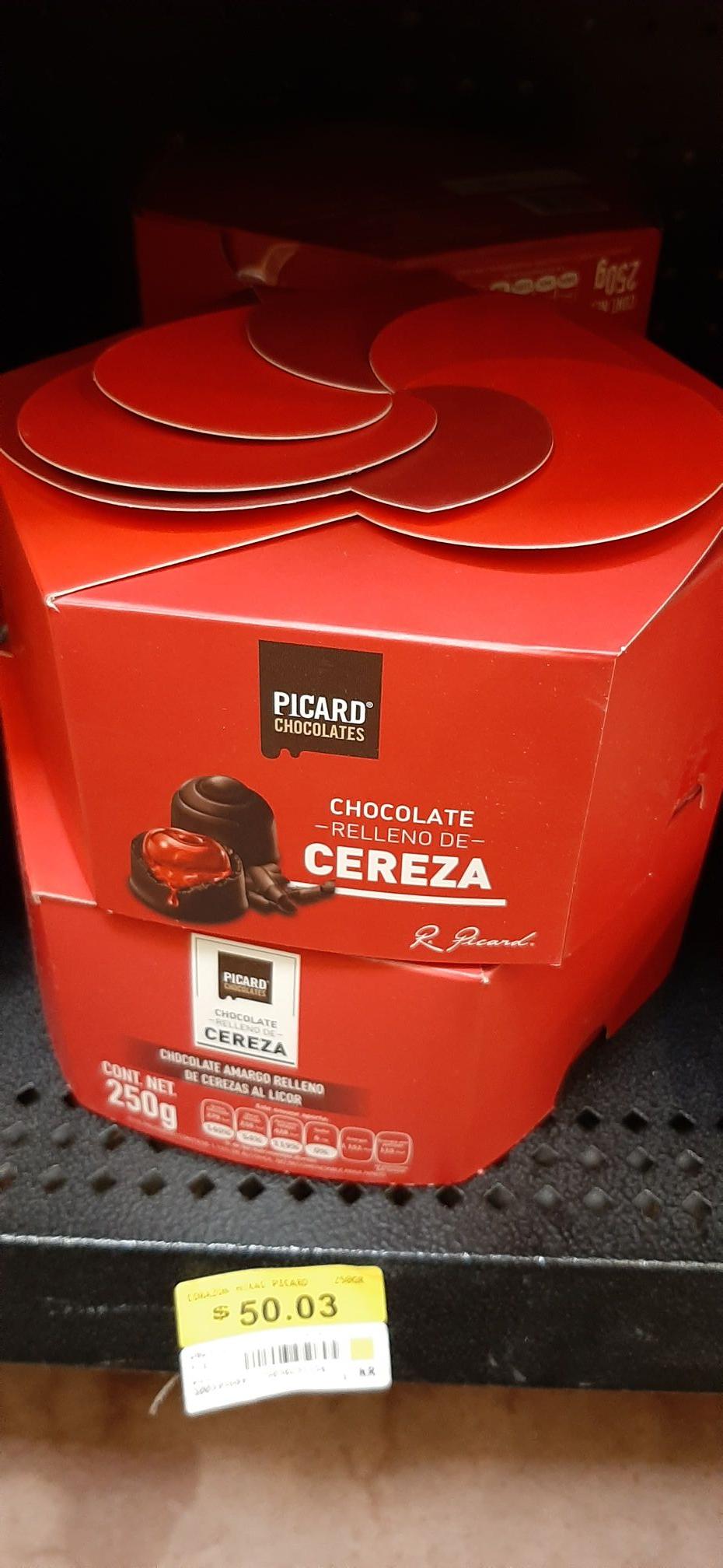 Walmart: Chocolate Picard relleno de cereza, 250 g