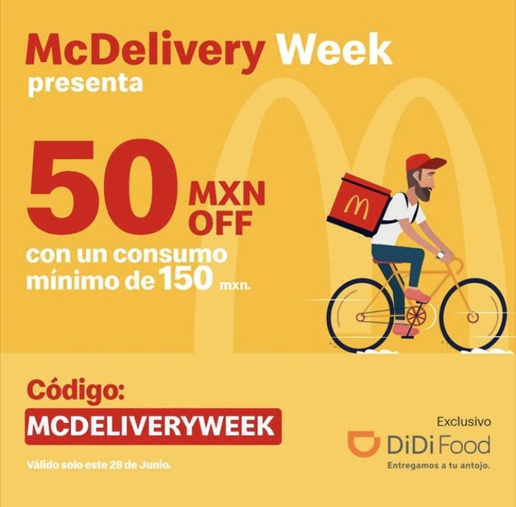 DiDi Food: $50 de descuento en McDonald's