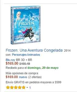 Amazon MX:  Frozen Blu-Ray 3D en $169.00