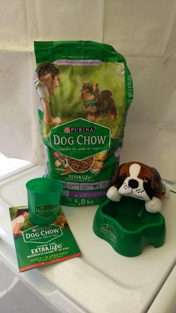 Walmart: 2 bolsas de 4 kg por $299 de alimento para Perro Dog Chow Extra Life cachorros minis y pequeños starter kit