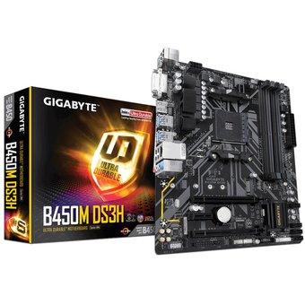 Linio: Tarjeta Madre Gigabyte B450M DS3H, ChipSet AMD B450