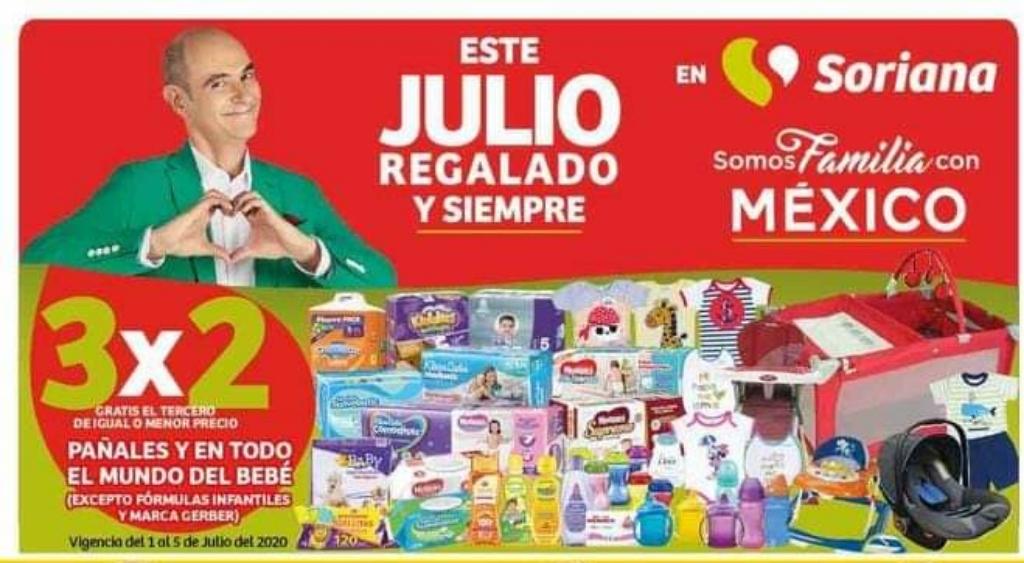 Soriana: Oferta Estelar de Julio Regalado 3x2 en Pañales y todo para bebé.
