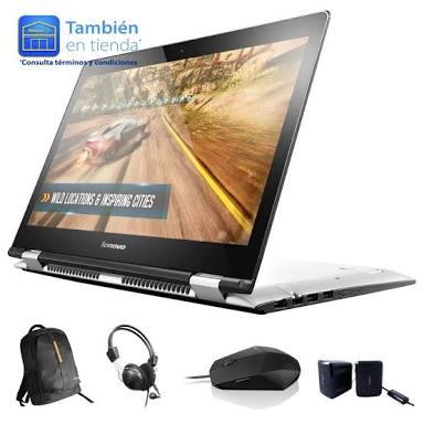 Walmart Saltillo: Lenovo Yoga 500 AMD A8. Más audífonos mochila -bocinas y mouse a $4,899