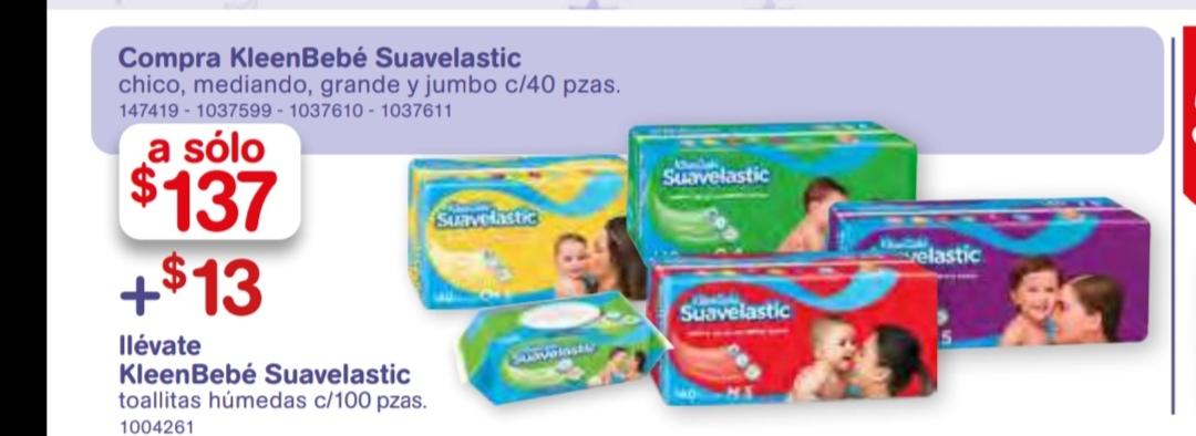 Farmacia benavides: pañales suavelastic + Toallitas suavelastic